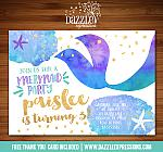 Mermaid Birthday Invitation 6 - FREE thank you card included
