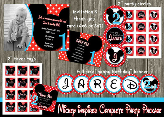 Mickey Mouse Inspired Complete Party Package