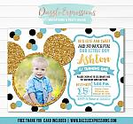 Mickey Mouse Inspired Birthday Invitation 4 - Thank You Card Included