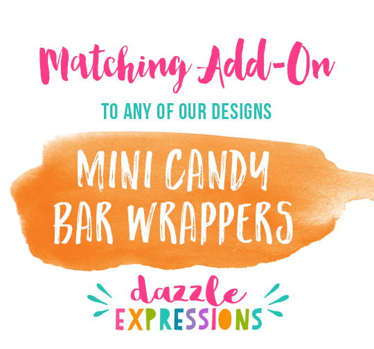 ADD ON Mini Candy Bar Wrappers