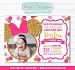 Minnie Mouse Inspired Birthday Invitation 11 - FREE thank you card included