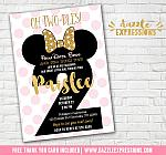 Minnie Mouse Inspired Birthday Invitation 10 - FREE thank you card included