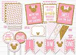 Minnie Mouse Inspired Complete Party Package  - Printable
