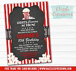 Movie Chalkboard Invitation - FREE thank you card