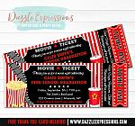 Movie Ticket Graduation Party Invitation - FREE thank you card included