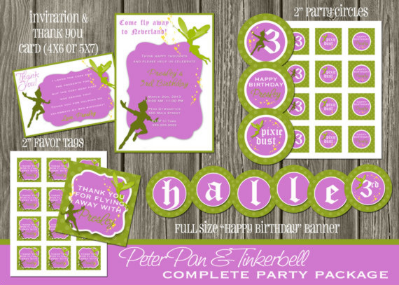 Fairy and Pirate Boy Party Package - Purple -  Printable