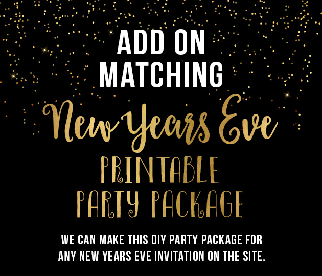 ADD ON New Years Eve Party Printable Decor