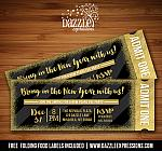 New Years Eve Party - Glitter Ticket Invitation 2