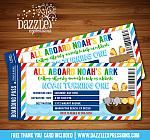 Noahs Ark Ticket Invitation 1 - FREE thank you card included