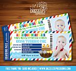 Noahs Ark Ticket Invitation 2 - FREE thank you card included