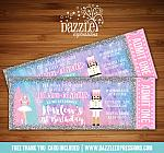 Nutcracker and Ballerina Ticket Invitation - FREE thank you card