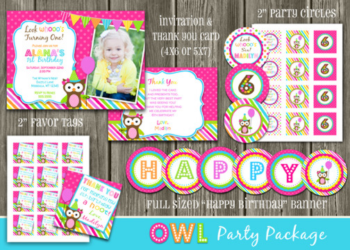 Owl Complete Party Package