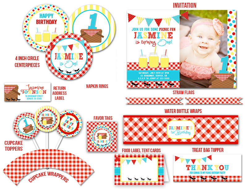 Picnic Complete Party Package - Printable