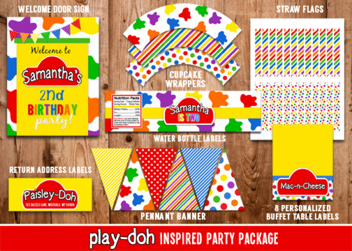 Playdoh Inspired Complete Party Package