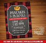 Pajamas and Pancakes Holiday Party Invitation