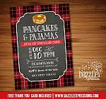 Pajamas and Pancakes Holiday Party Invitation