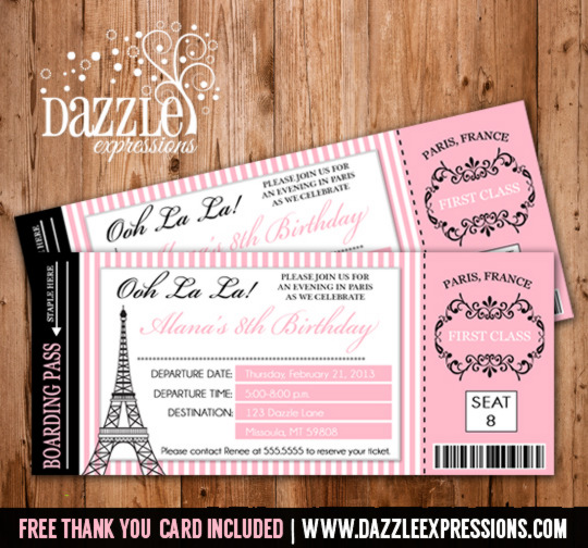 Paris Themed Invitations Template was adorable invitation design