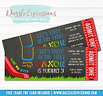 Park or Playground Ticket Invitation 1 - FREE thank you card included
