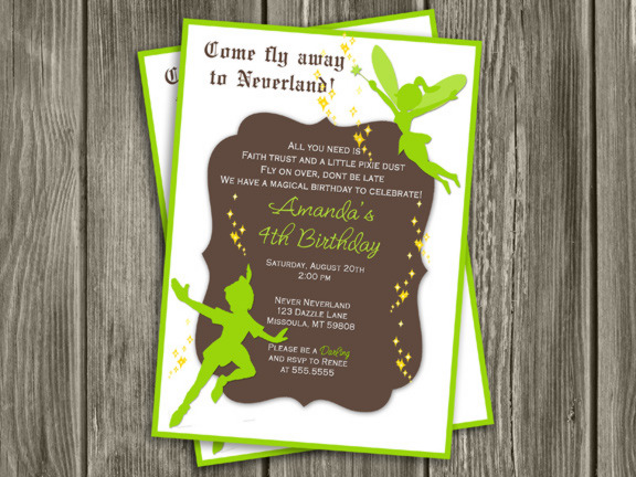 Fairy and Boy Birthday Invitation 1 - Thank You Card Included