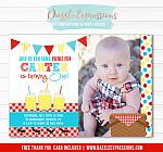 Picnic Birthday Invitation 1 - FREE thank you card included