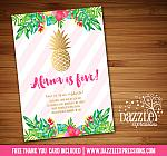 Pineapple Invitation 1 - FREE thank you card included