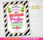 Pineapple Invitation 2 - FREE thank you card included