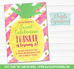Pineapple Invitation 3 - FREE thank you card included