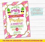 Pineapple Invitation 4 - FREE thank you card included