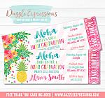 Pineapple Luau Graduation Party Ticket Invitation - FREE thank you card