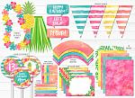 Pineapple Luau Complete Party Package - Printable