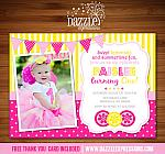 Pink Lemonade Invitation 1 - Thank you card included