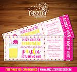 Pink Lemonade Ticket Invitation 1 - FREE thank you card