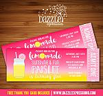 Pink Lemonade Ticket Invitation 2 - FREE thank you card
