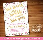 Pink and Gold Birthday Invitation 1 - FREE thank you card