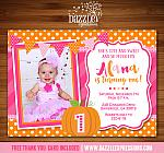 Pumpkin Birthday Invitation 1 - FREE Thank You Card included