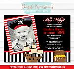 Pirate Birthday Invitation 1 - FREE Thank You Card Included