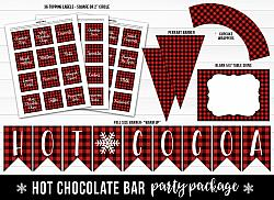Hot Chocolate Bar - Printable Decor