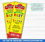 Playdoh Inspired Ticket Invitation - FREE thank you card