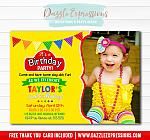 Playdoh Inspired Birthday Invitation 1 - Thank You Card Included