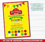 Playdoh Inspired Birthday Invitation 5 - Thank You Card Included