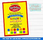 Playdoh Inspired Birthday Invitation 3 - FREE thank you card included