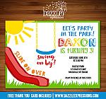 Park or Playground Invitation 1 - FREE thank you card included