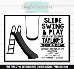 Park or Playground Invitation 2 - FREE thank you card included