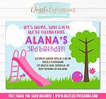 Park or Playground Invitation 4 - FREE thank you card included