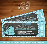 Polar Express Inspired Train Ticket Invitation 2 - FREE thank you card