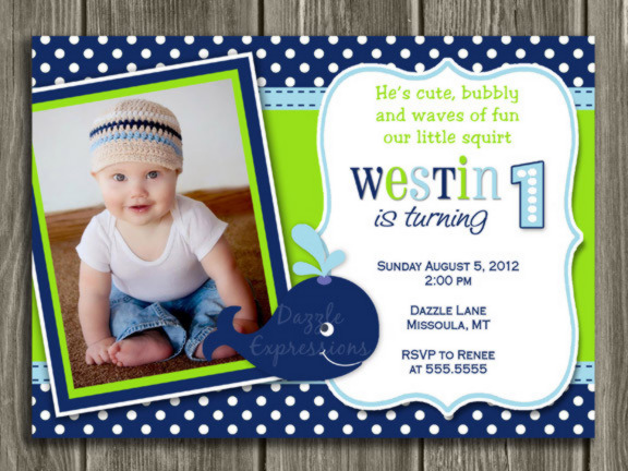 Printable preppy whale birthday photo invitation boys first preppy whale birthday invitation 1 thank you card included filmwisefo Image collections