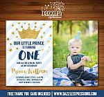 Prince Invitation 2  - FREE thank you card