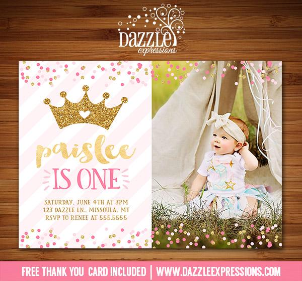 Princess Glitter Invitation 2