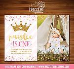 Princess Glitter Invitation 2 - FREE thank you card
