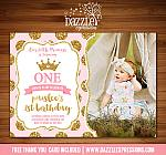 Princess Glitter Invitation 3 - FREE thank you card